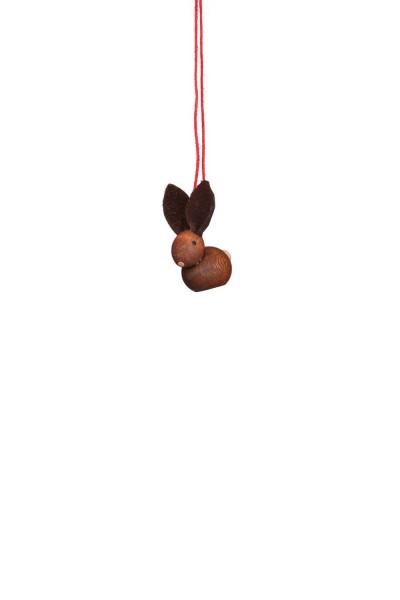 Hasen zum Hängen, 12 Stück, 2 cm von Christian Ulbricht GmbH & Co KG Seiffen/ Erzgebirge