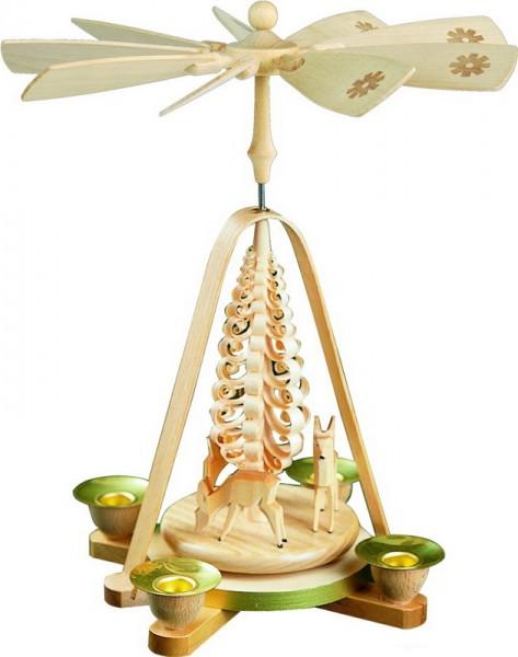 Weihnachtspyramide Rehe, 28 cm, Richard Glässer GmbH Seiffen/ Erzgebirge