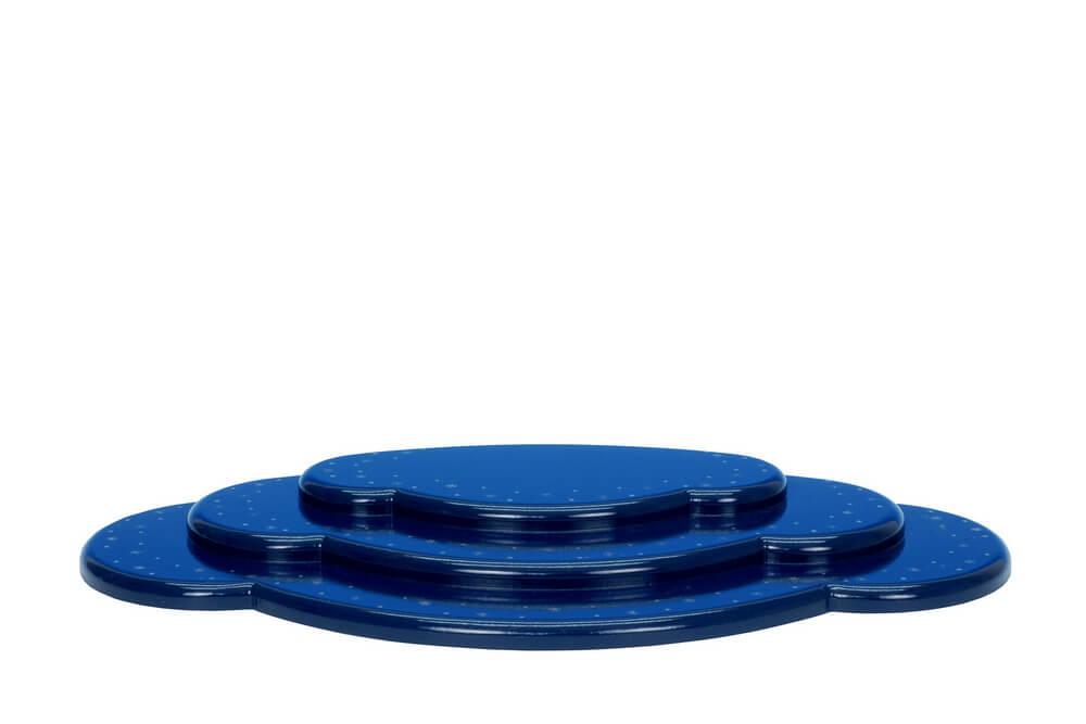 Wolke für Weihnachtsengel, blau, 3 - teilig, 37 cm von Christian Ulbricht GmbH & Co KG Seiffen/ Erzgebirge