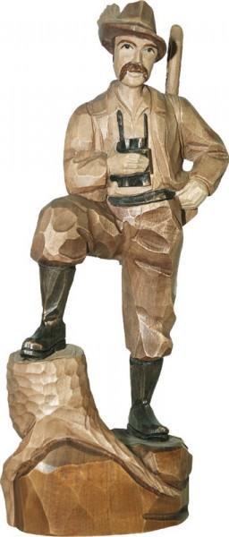 Förster, gebeizt, geschnitzt, in verschiedenen Größen von Schnitzkunst aus dem Erzgebirge