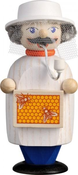 Hmmm, der süße Duft von Honig liegt in der Luft. Ob uns wohl der Räuchermann Imker, 14 cm von der Seiffener Volkskunst eG, welchen mit gebracht hat? …