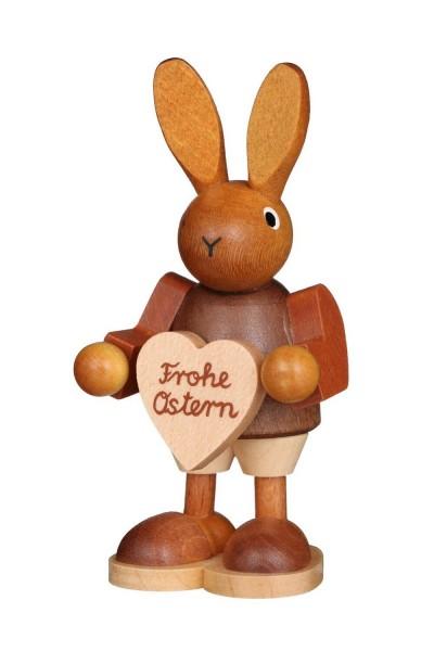Osterhase mit Herz, natur, 9 cm von Christian Ulbricht GmbH & Co KG Seiffen/ Erzgebirge