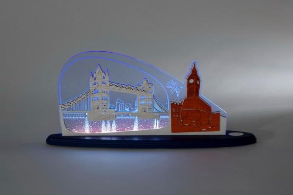"""LED Motivleuchte London - London von Weigla - Günter Gläser Deutschneudorf/ Erzgebirge Die Motivleuchte """"London London"""" besteht aus bläulich …"""