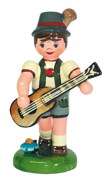 Musikkind von Hubrig Volkskunst Junge mit Gitarre