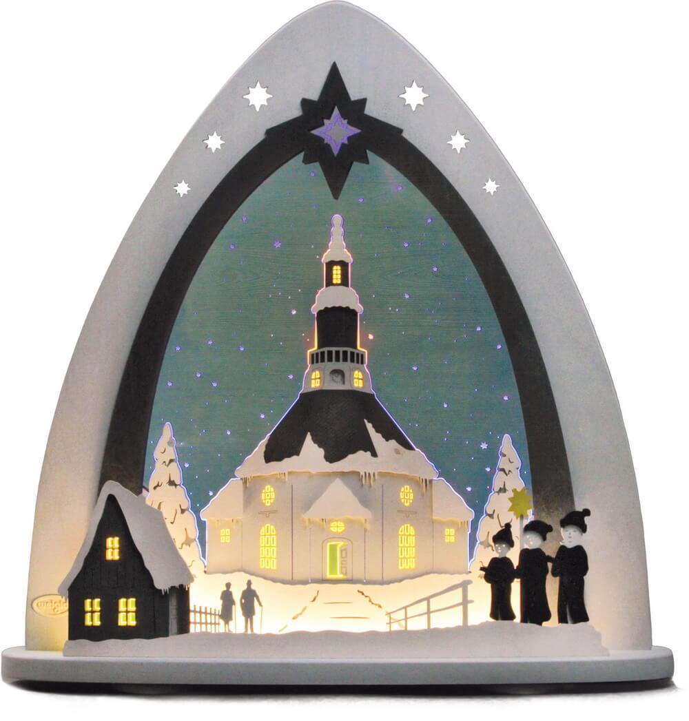 Weigla LED Schwibbogen & Lichterspitze Seiffener Kirche
