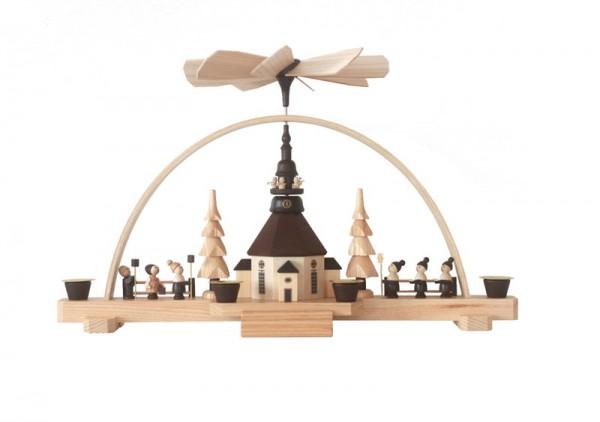 Schwibbogen mit Weihnachtspyramide, 25 cm, Spielwarenmacher Günther Seiffen/ Erzgebirge
