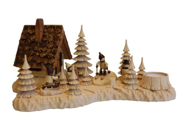 Räucherhaus - Räuchermännchen Wildhüterhütte mit Romy Thiel Winterkinder von A. Lahl_Bild1