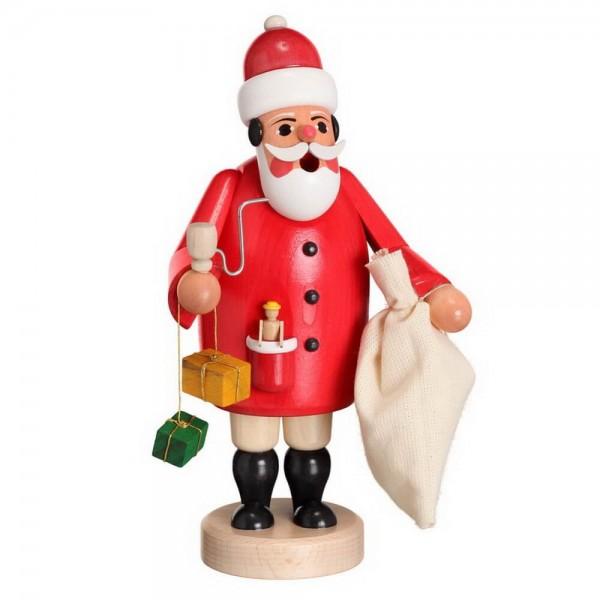 Räuchermann Ruprecht mit Beine von Karl Werner Sayda / Erzgebirge Mit dem typischen Weihnachtsmann Outfit und dem Sack voller Geschenke, macht er sich auf zu …