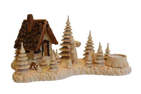 Landschaft mit Räucherhütte - Räuchermännchen und Holzweibel von A. Lahl_Bild1