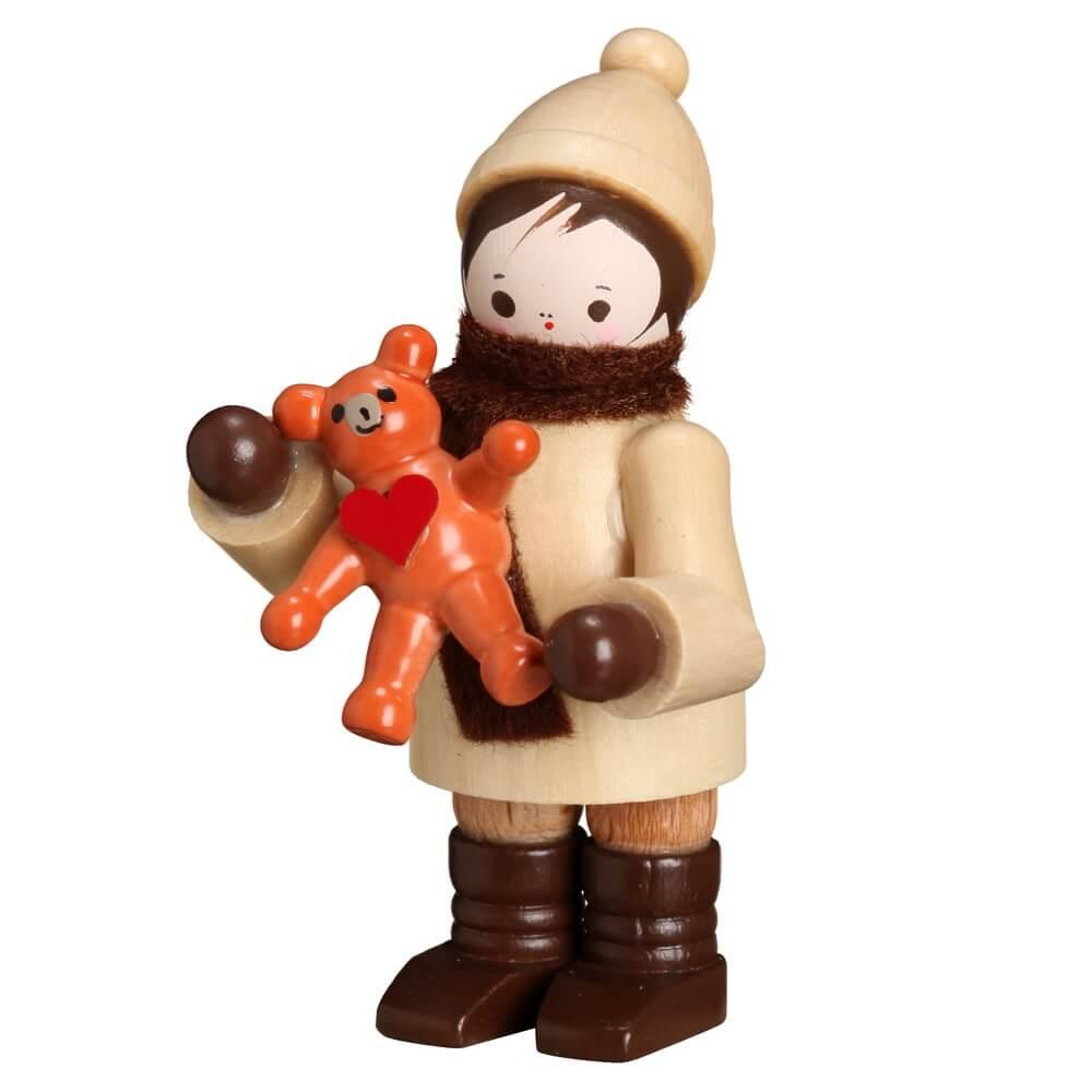 Winterkind Junge mit Teddy, Mein kleiner Freund, 6 cm von Romy Thiel