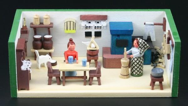 Miniaturstübchen Bauernstube von Gunter Flath aus Seiffen / Erzgebirge Detailgetreue Nachbildung einer Bauernstube aus früheren Zeiten. Hier kann man genau …