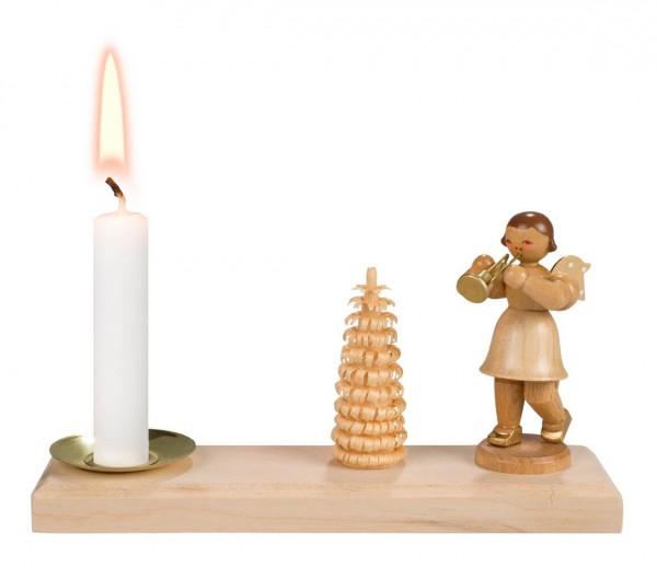 Weihnachtskerzenhalter von Nestler-Seiffen mit Weihnachtsengel für Wachskerzen _Bild1