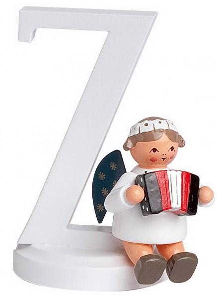 KWO Weihnachtsengel mit dem Buchstaben Z aus dem Erzgebirge