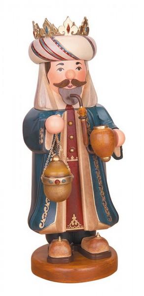 Räuchermännchen Heilige Drei Könige Balthasar von Hubrig Volkskunst GmbH Zschorlau/ Erzgebirge ist 35 cm groß.