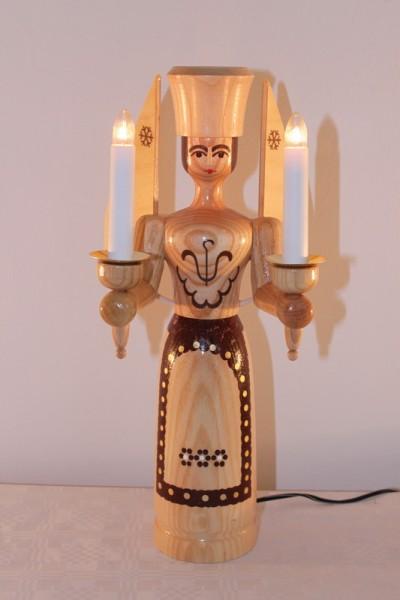 Weihnachtsengel mit elektrischer Beleuchtung, natur und eigenem Steckertrafo, 12 Volt, 34 cm von Nestler-Seiffen.com OHG Seiffen/ Erzgebirge
