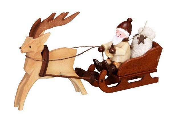 Magie liegt in der Luft! Denn schaut wer jetzt kommt.... der Nikolaus mit Rentierschlitten in natur von Romy Thiel Deutschneudorf/ Erzgebirge. Was er wohl …