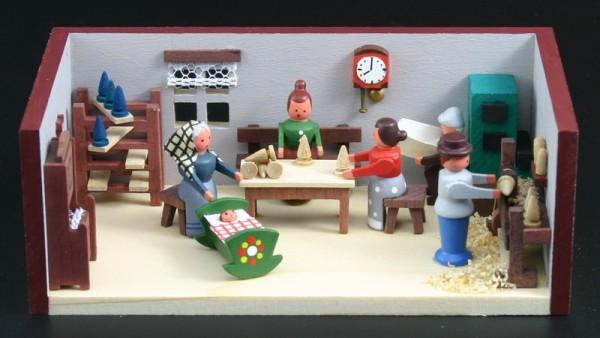 Miniaturstübchen Spielzeugmacherstube von Gunter Flath aus Seiffen / Erzgebirge Detailgetreue Nachbildung einer Spielzeugmacherstube aus früheren Zeiten. Hier …