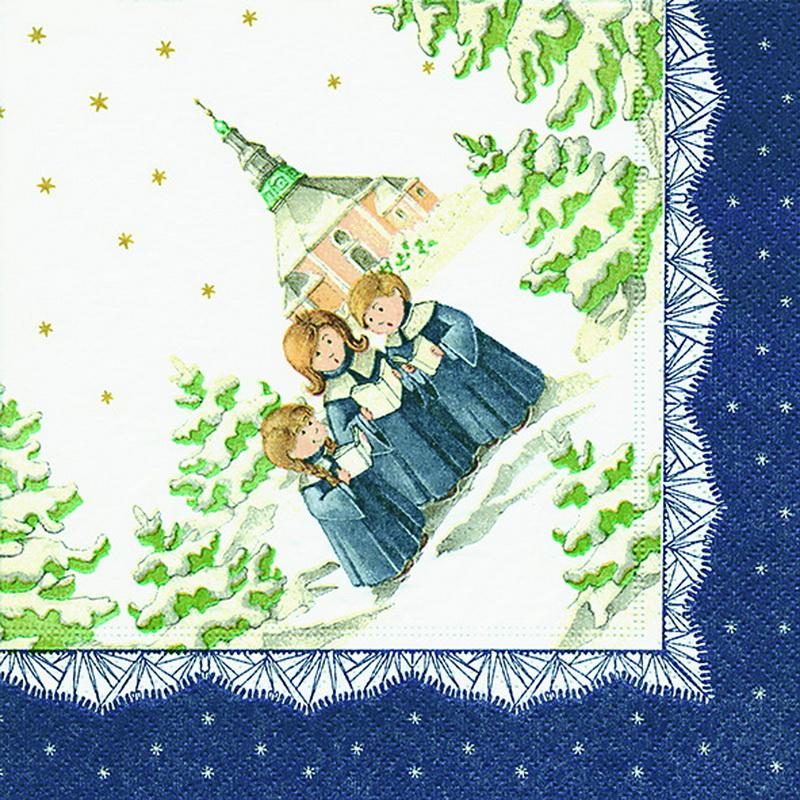 Weihnachtsservietten mit dem Motiv Seiffen, 20 Stück, 3 - lagig, 33 x 33 cm