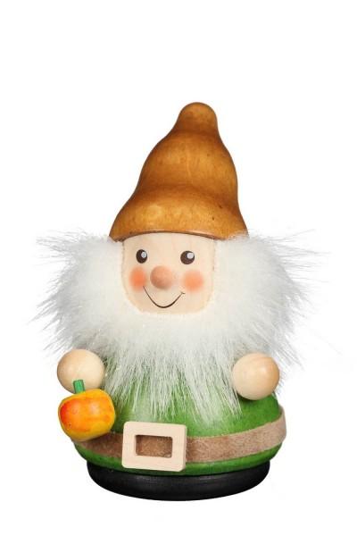 Wackelmännchen Zwerg mit Apfel von Christian Ulbricht Seiffen/ Erzgebirge ist 8 cm groß. Wenn man den kleinen Zwerg mit dem niedlichen Gesicht und den Apfel …
