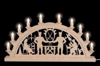 Vorschau: LED Schwibbogen von Nestler-Seiffen mit Schwarzenberger Motiv und 10 Spitzkerzen _Bild2