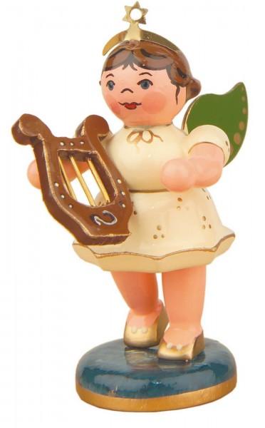 Weihnachtsengel mit Laute von Hubrig Volkskunst GmbH Zschorlau/ Erzgebirge ist 7 cm groß.