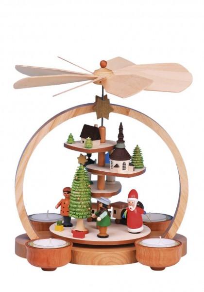Knuth Neuber, Weihnachtspyramide mit farbigen Figuren