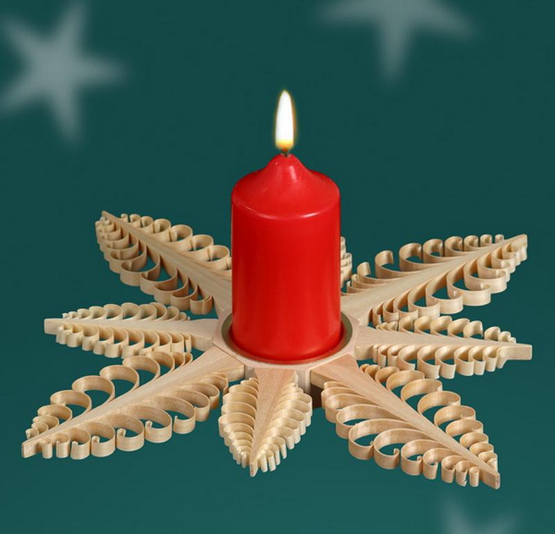 Weihnachtskerzenhalter für Kerzen von Martina Rudolph aus Seiffen/ Erzgebirge