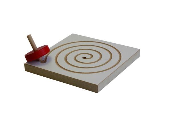 Kreiselbrett Spirale Holzspielzeug aus dem Erzgebirge von Ebert GmbH_Bild1