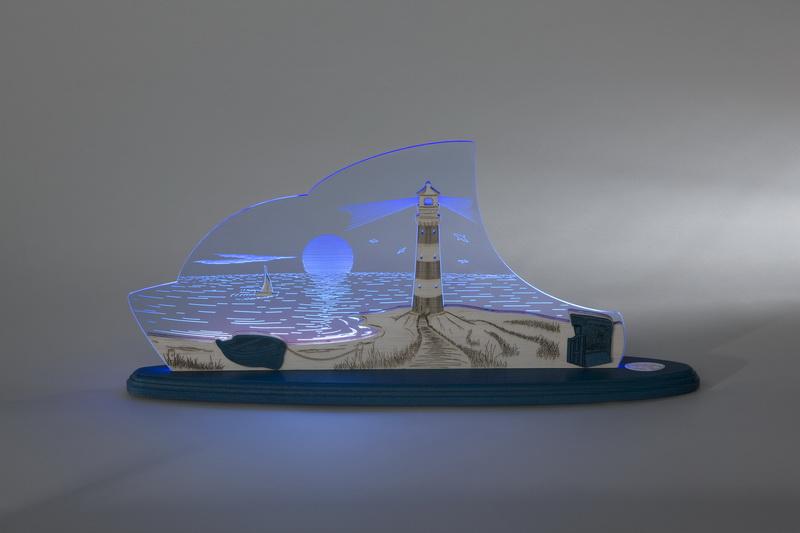 Led motivleuchte maritim - Christbaumschmuck leuchtturm ...
