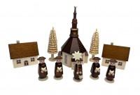 Vorschau: Nestler-Seiffen, Weihnachtsfiguren Seiffener Dorf mit Kirche, Kurrende_Bild2