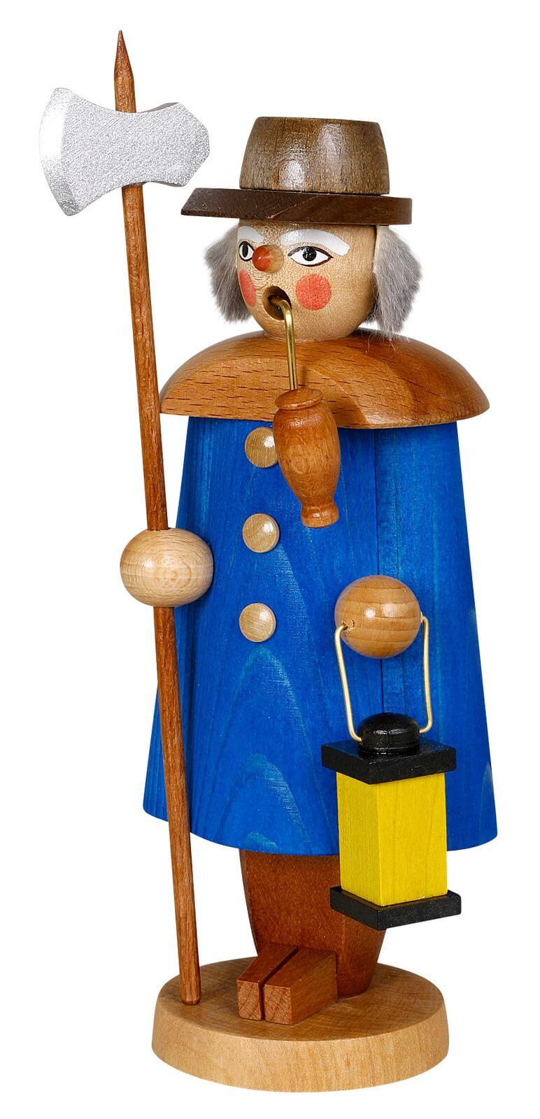 Räuchermännchen Nachtwächter, blau, 19 cm von Jan Stephani