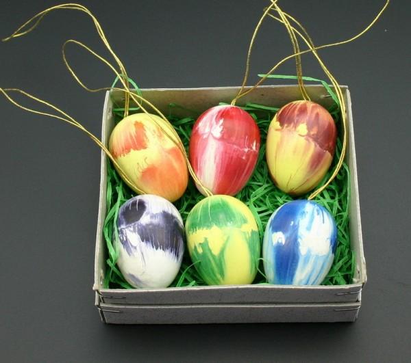 Ostereier marmoriert 6 Stück von Gunter Flath