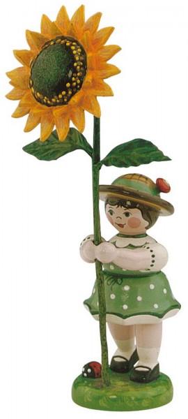 Blumenkind Mädchen mit Sonnenblume, 11 cm von Hubrig Volkskunst GmbH Zschorlau/ Erzgebirge
