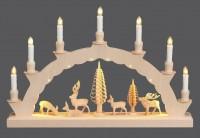 Vorschau: LED Schwibbogen mit dem Motiv geschnitzte Hirsche und 2-facher Beleuchtung von Nestler-Seiffen_Bild3