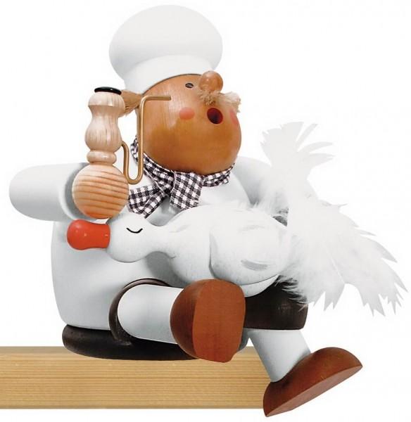 KWO Kantenhocker Räuchermännchen Koch mit Gans