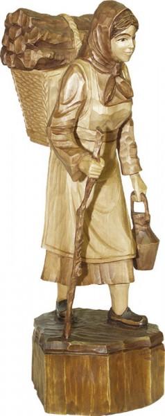 Waldfrau, gebeizt, geschnitzt, in verschiedenen Größen