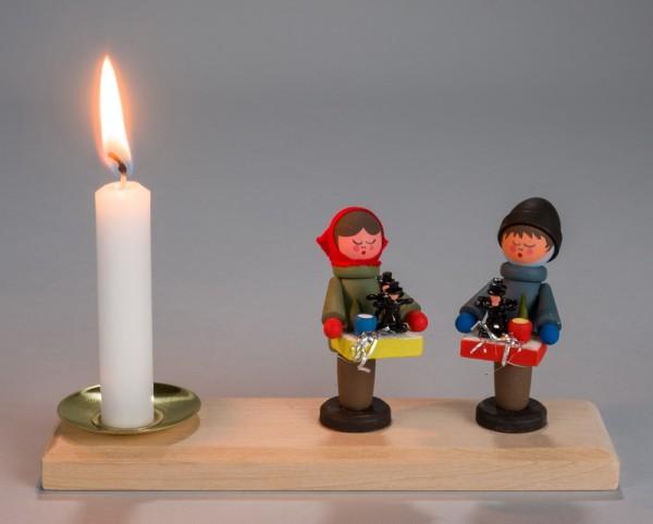 Weihnachtskerzenhalter Striezelkinder, 15 x 4,3 cm, Nestler-Seiffen.com OHG Seiffen/ Erzgebirge