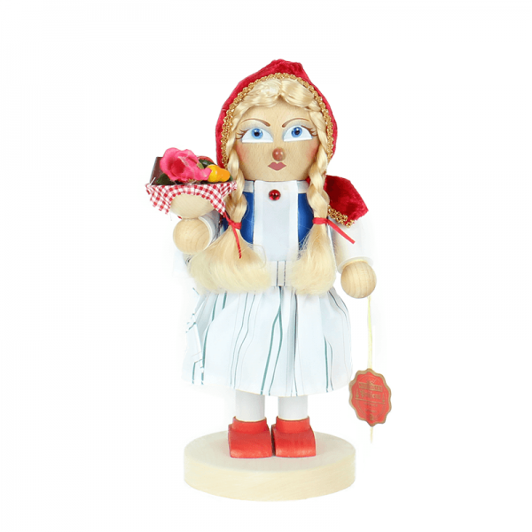 Nussknacker Chubby Little Red Riding Hood, 29 cm von Steinbach Volkskunst GmbH/ Marienberg