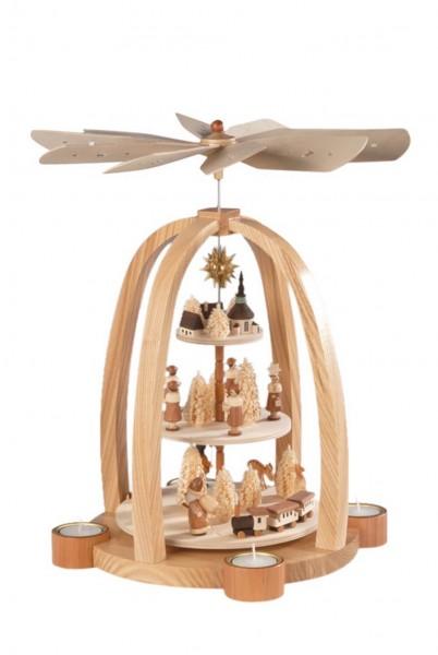 Knuth Neuber, Weihnachtspyramide Kurrende, 3 - stöckig