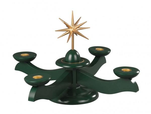 Albin Preißler Adventsleuchter mit Weihnachtsstern, grün