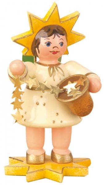 Weihnachtsfigur Sternkind mit Sternenband von Hubrig Volkskunst GmbH Zschorlau/ Erzgebirge ist 5 cm groß.