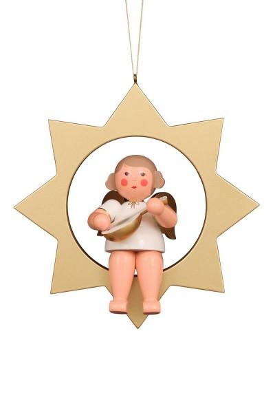 Weihnachtsengel im Stern, 26 cm von Christian Ulbricht GmbH & Co KG Seiffen/ Erzgebirge