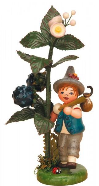 Junge am Brombeerstrauch aus der Serie Hubrig Herbstkinder