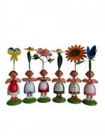 Vorschau: Blumenkinder von WEHA-Kunst Sommerblumenmädchen, 6 Stück_Bild4