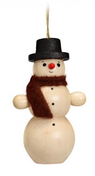 Ich bin ein kleiner Schneemann mit einem schwarzen Hut und einer Rübennase, die steht mir wirklich gut. Der Baumbehang & Christbaumschmuck Schneemann …
