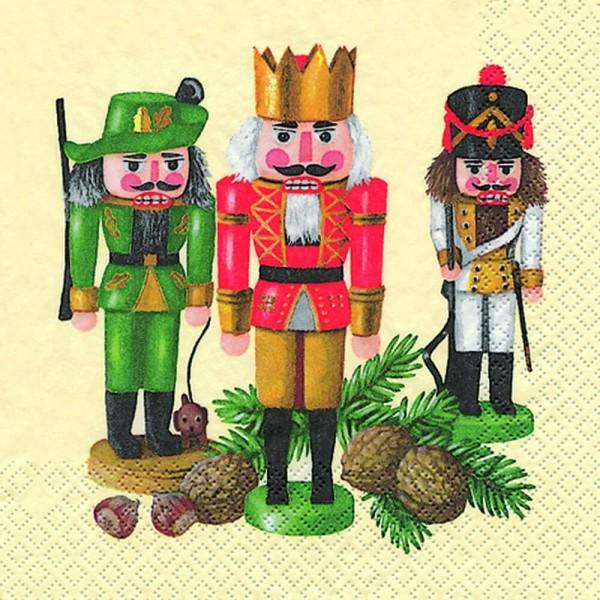 Home Fashion®, Weihnachtsservietten Nußknackertrio