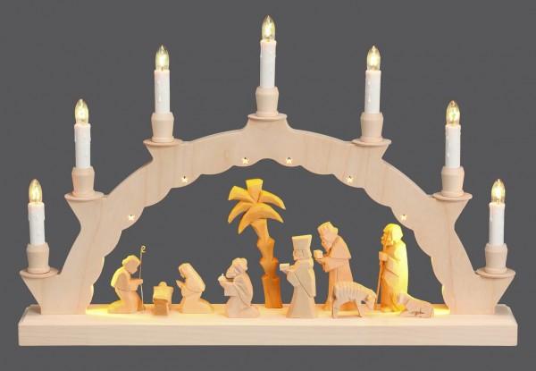 Schwibbogen Christi Geburt mit 2-facher Beleuchtung von Nestler-Seiffen