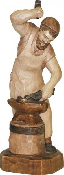 Schmied, gebeizt, geschnitzt, 25 cm