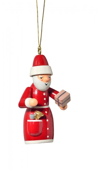KWO Christbaumschmuck Weihnachtsmann mit Geschenkzum Hängen für den Weihnachtsbaum