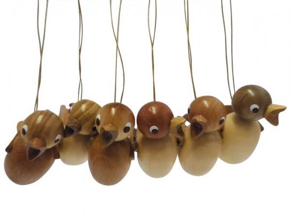 Vögel zum hängen, natur, 6 Stück aus Buchenholz, 5 cm von Nestler-Seiffen.com OHG Seiffen/ Erzgebirge